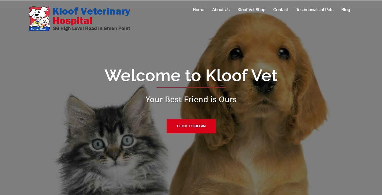 Kloof Vet Website